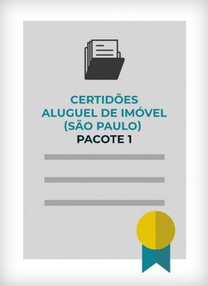 Certidões para Aluguel de Imóvel (Cidade de São Paulo) - PACOTE 1