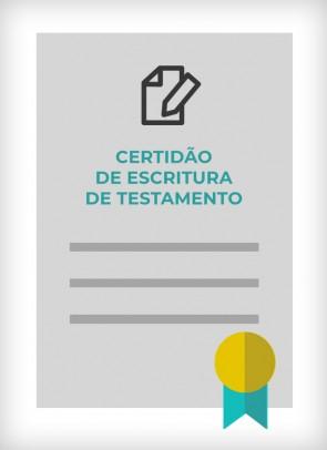 Certidão de Escritura de Testamento (Cidade de São Paulo)