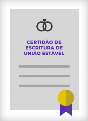 Certidão de Escritura de União Estável (Cidade de São Paulo)