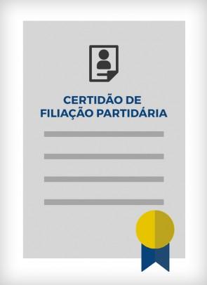 Certidão de Filiação Partidária