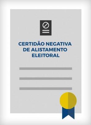 Certidão Negativa de Alistamento Eleitoral