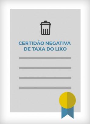 Certidão Negativa de Taxa do Lixo (Cidade de São Paulo)