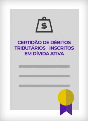 Certidão Negativa de Débitos Tributários do Estado de São Paulo para os Inscritos na Dívida Ativa