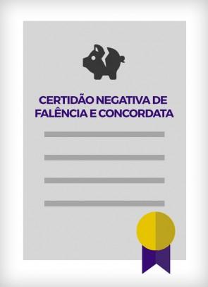 Certidão Negativa de Falência e Concordata (São Paulo - Estadual)