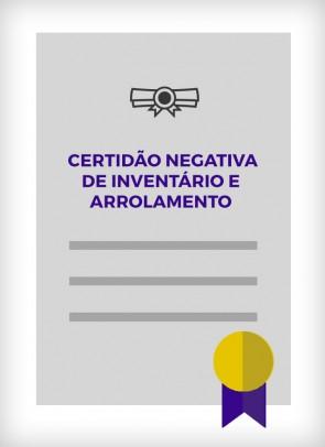 Certidão Negativa de Inventário e Arrolamento (São Paulo - Estadual)