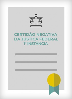 Certidão Negativa da Justiça Federal (São Paulo - Estadual) - 1ª Instância