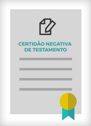 Certidão Negativa de Testamento do Colégio Notarial do Brasil - CNB SP