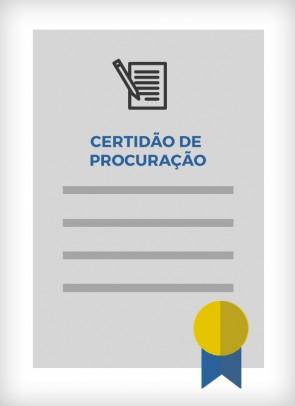 Certidão de Procuração (Cidade de São Paulo)