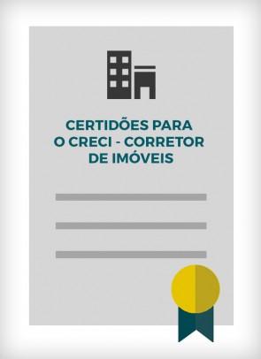 Certidões para o CRECI Corretor de Imóveis (Cidade de São Paulo)