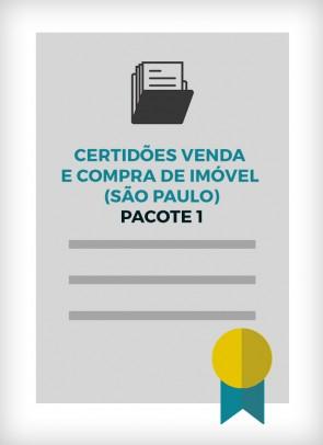 Certidões para Venda e Compra de Imóvel (Cidade de São Paulo) - PACOTE 1