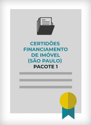 Certidões para Financiamento Imobiliário (Cidade de São Paulo) - PACOTE 1